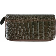 Genuine crocodile leather wallet WN0108 Maroon