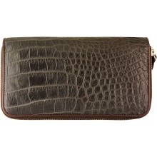 Genuine crocodile leather wallet WN0109 Oak
