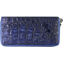 Genuine crocodile leather wallet WN0110HB Midnight Blue