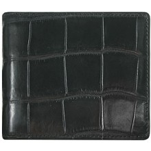 Genuine crocodile leather wallet WN02003 Black