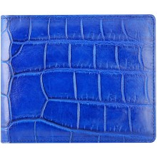 Genuine crocodile leather wallet WN02003 Blue