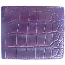 Genuine crocodile leather wallet WN02003 Bordeaux