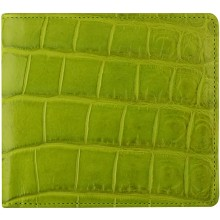 Genuine crocodile leather wallet WN02016 Canary