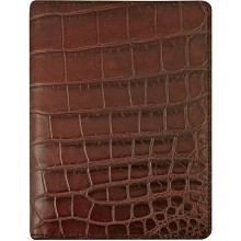 Genuine crocodile leather passport wallet WN02020 Bordeaux