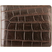 Genuine crocodile leather wallet WN02028 Oak