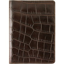 Genuine crocodile leather passport cover WN02029 Oak