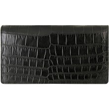 Genuine crocodile leather wallet WN02102 Black