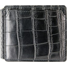 Genuine crocodile leather money clip WN500 Black