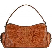Genuine alligator leather bag YCM282 Tan