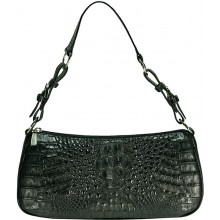 Genuine alligator leather bag YCM302 Black