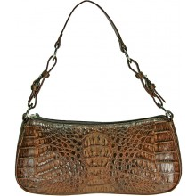 Genuine alligator leather bag YCM302 Brown