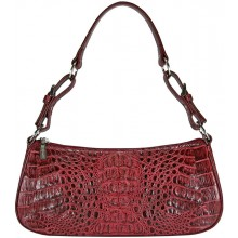 Genuine alligator leather bag YCM302 Burgundy