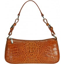 Genuine alligator leather bag YCM302 Tan