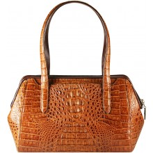 Genuine alligator leather bag YCM308 Tan