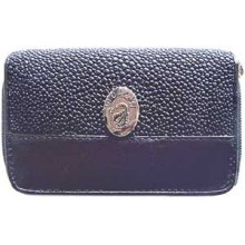 Genuine stingray leather coin wallet ZRR11 Black